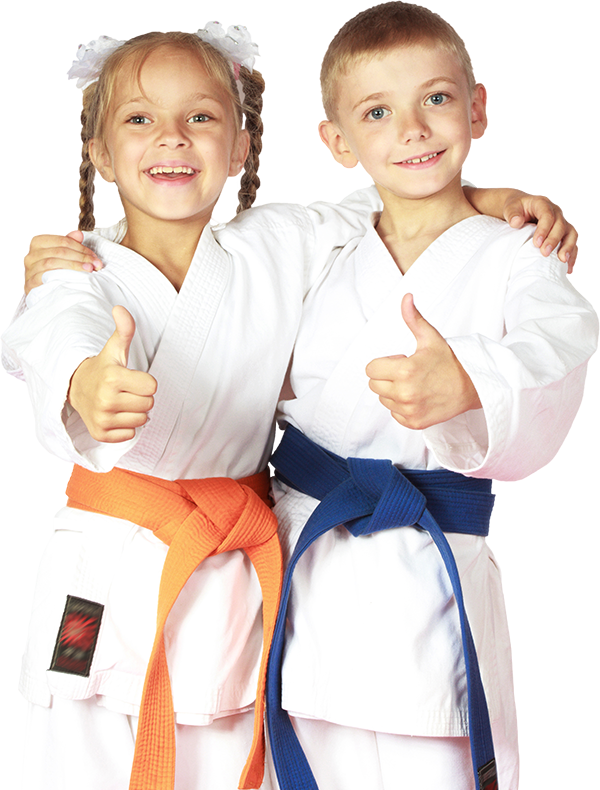 martial arts boy and girl